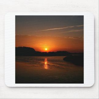 Nature Sunset Dark Rocky Coast Mouse Pads