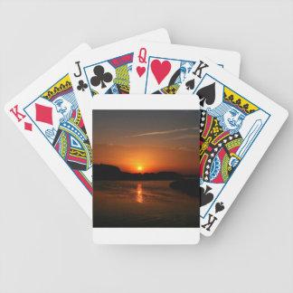 Nature Sunset Dark Rocky Coast Poker Cards