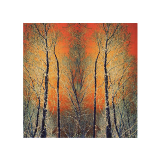 Nature sunset trees landscape wood wall art
