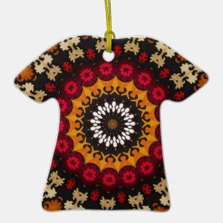 Nature Theme Geometric Pattern Vintage Fabric Ceramic T-Shirt Decoration