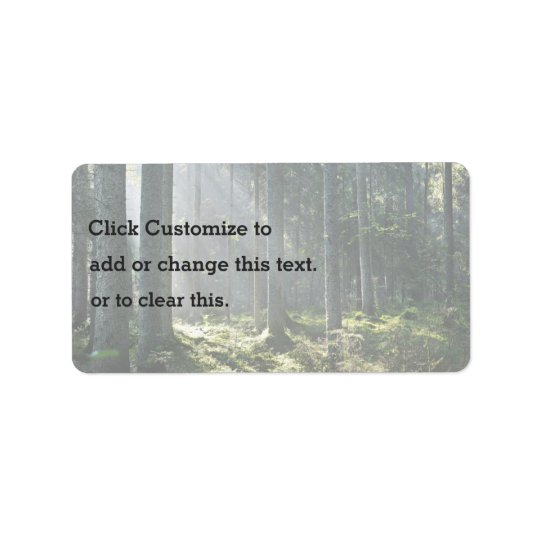 Nature Themed Address Label