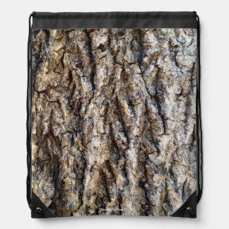 Nature Tree Bark Drawstring Backpack