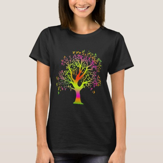 nature tree hugger colourful tree shirt design