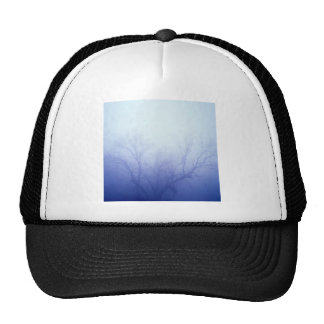 Nature Trees Winter Blue Hat