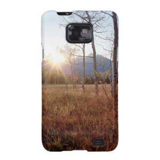 Nature Trees Winter Sun Forest Samsung Galaxy S2 Cover