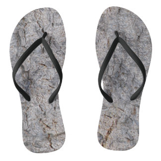 Nature Tropical Tree Bark Photo Flip Flops