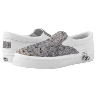Nature Tropical Tree Bark Photo Slip-On Shoes