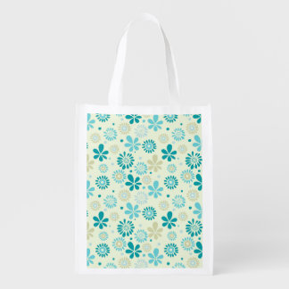 Nature Turquoise Abstract Sunshine Floral Pattern