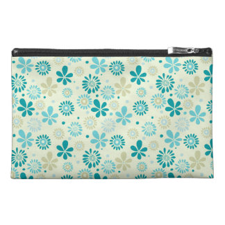 Nature Turquoise Abstract Sunshine Floral Pattern Travel Accessories Bag