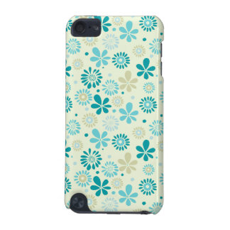 Nature Turquoise Abstract Sunshine Floral Pattern iPod Touch (5th Generation) Covers