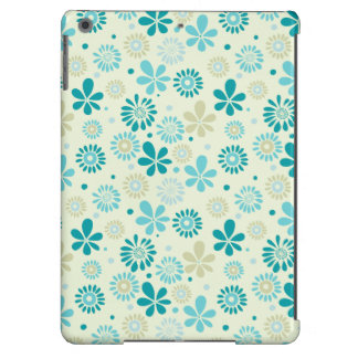 Nature Turquoise Abstract Sunshine Floral Pattern Cover For iPad Air