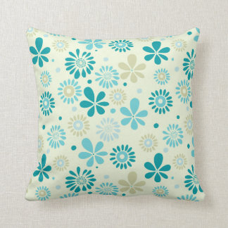 Nature Turquoise Abstract Sunshine Floral Pattern Pillows
