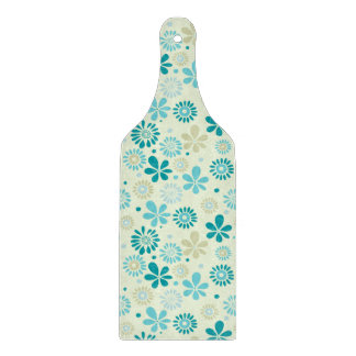 Nature Turquoise Abstract Sunshine Floral Pattern Cutting Board