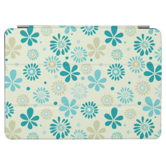 Nature Turquoise Abstract Sunshine Floral Pattern iPad Air Cover
