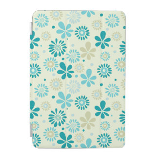 Nature Turquoise Abstract Sunshine Floral Pattern iPad Mini Cover