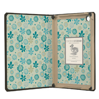 Nature Turquoise Abstract Sunshine Floral Pattern iPad Mini Covers