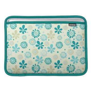 Nature Turquoise Abstract Sunshine Floral Pattern MacBook Air Sleeve