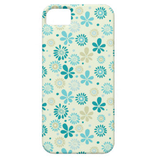 Nature Turquoise Abstract Sunshine Floral Pattern iPhone 5 Cover