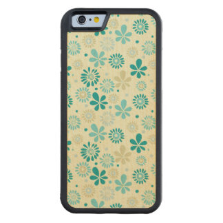 Nature Turquoise Abstract Sunshine Floral Pattern Maple iPhone 6 Bumper