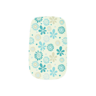 Nature Turquoise Abstract Sunshine Floral Pattern Nail Art
