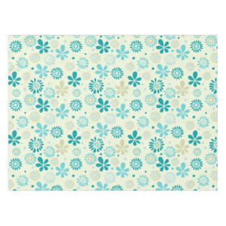 Nature Turquoise Abstract Sunshine Floral Pattern Tablecloth