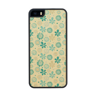 Nature Turquoise Abstract Sunshine Floral Pattern Wood iPhone SE/5/5s Case