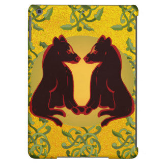 Nature Vines Animals iPad Case Gold Gifts 6