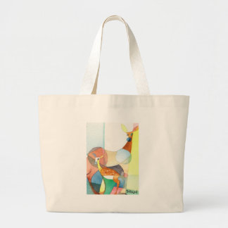 """Nature Watercolor """"Doe and Fawn"""" Bag"""