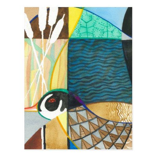 Nature Waterfowl II Painting Postcard