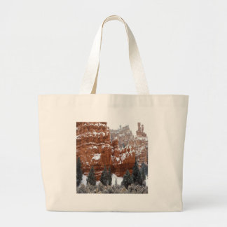 Nature Winter Cold Canyon Tote Bags