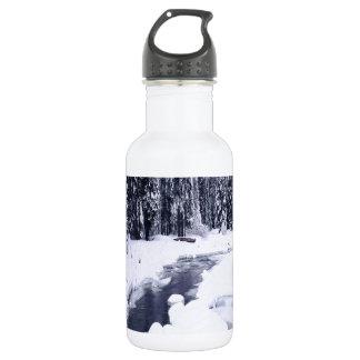 Nature Winter Snowy River 532 Ml Water Bottle