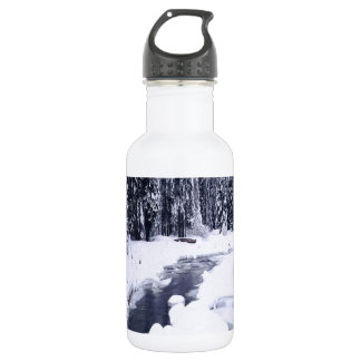 Nature Winter Snowy River 532 Ml Water Bottle