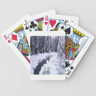 Nature Winter Snowy River Bicycle Poker Cards
