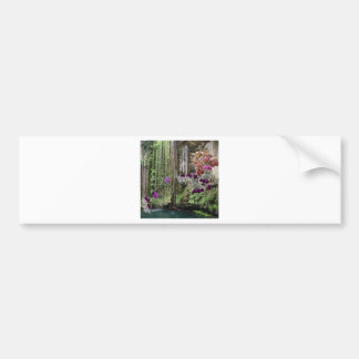 Nature with orchids bumper sticker