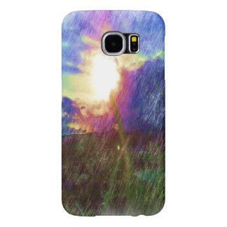 Nature with the sun looking like a flower samsung galaxy s6 cases