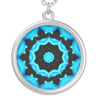 NATURES ART OCEAN BLUE SILVER PLATED NECKLACE