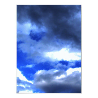"""Nature's Beauty In Clouds 5.5"""" X 7.5"""" Invitation Card"""