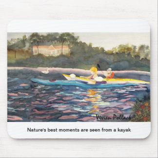 Nature's best moments are seen from a kayak mouse mat