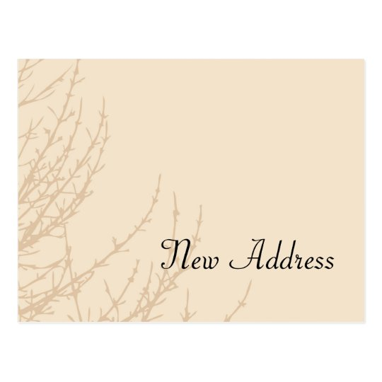 Nature's Branches Change of Address Postcard