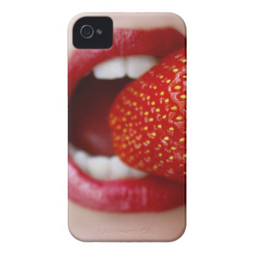 Nature's Candy - Woman Eating Strawberry Blackberry Bold Case