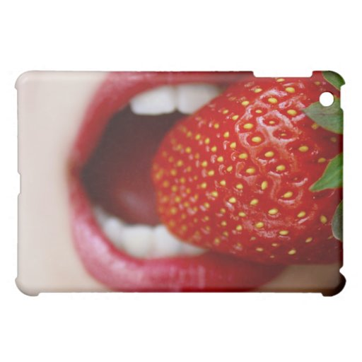Nature's Candy - Woman Eating Strawberry iPad Mini Case