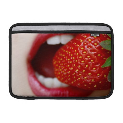 Nature's Candy - Woman Eating Strawberry Sleeve For MacBook Air