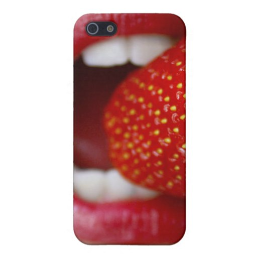 Nature's Candy - Woman Eating Strawberry iPhone 5 Case