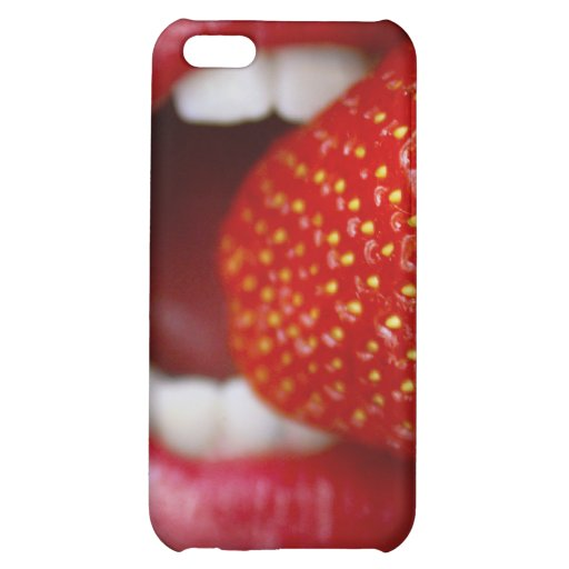 Nature's Candy - Woman Eating Strawberry iPhone 5C Case
