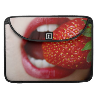 Nature's Candy - Woman Eating Strawberry Sleeve For MacBook Pro
