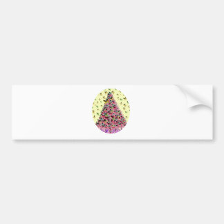 Natures Christmas Tree in Gold Pink Bumper Sticker