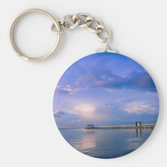 Nature's Collection Basic Round Button Key Ring