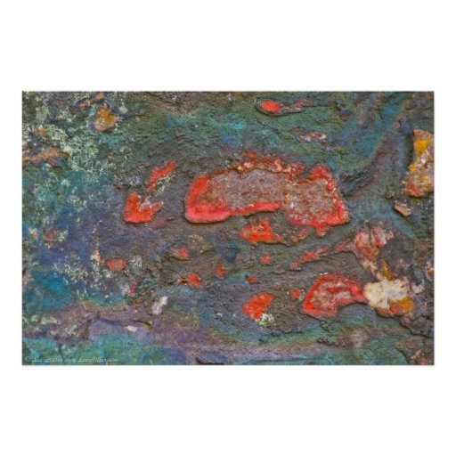 Nature's Colourful Rock Painting Poster