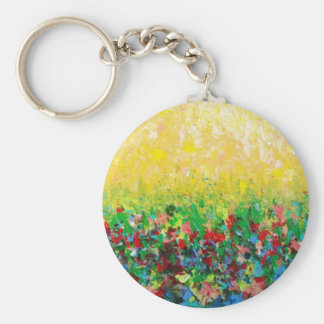 NATURE'S LIVING ROOM BASIC ROUND BUTTON KEY RING