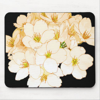 """Nature's Own"" Flowers All Year* Pale Peach Mouse Pad"